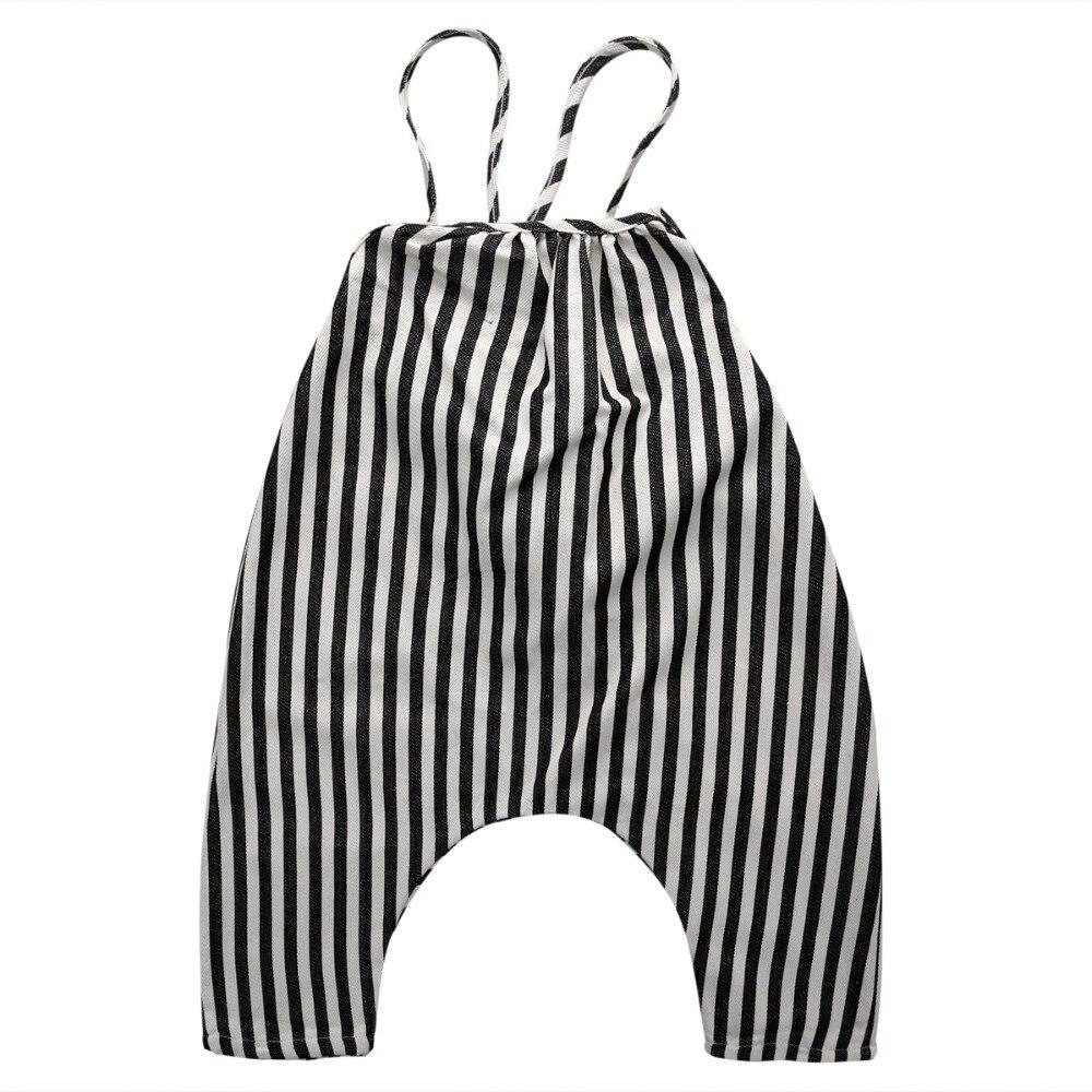 2018 Summer Chiffon Baby Boys Toddler Spaghetti straps Striped Bib Pants Long Pants   Romper   Overalls Set 0-4T
