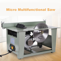 220v 1200W MJ1025 Multifunctional Mini Table Saw Desktop Decoration Saw Board Material Feeder Woodworking Table Saw 3800r/min