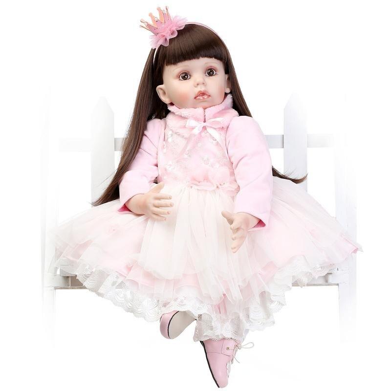 Hot Sale 28 70cm Reborn Toddler Dolls Cut Princess Realistic Reborn Baby Dolls Toys Silicone Lifelike