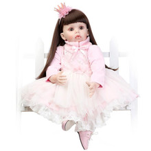 Hot Sale 28″ 70cm Reborn Toddler Dolls Cut Princess Realistic Reborn Baby Dolls Toys Silicone Lifelike Reborn Baby Girls