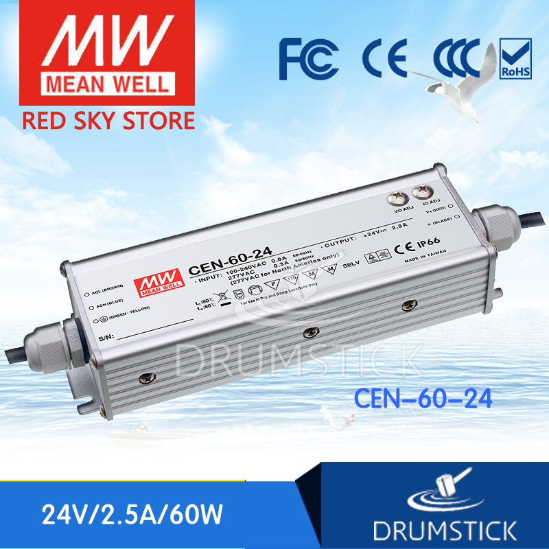 цена на hot-selling MEAN WELL CEN-60-24 24V 2.5A meanwell CEN-60 24V 60W Single Output LED Power Supply