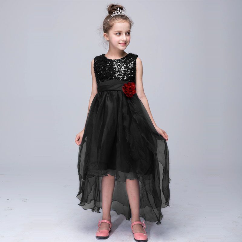 gold sequin girls dress dresses girl summer lace toddler party kids  clothing kids clothes lace dress prom girls tulle dress 14-in Dresses from  Mother   Kids 595afca305d2