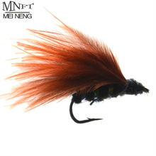 MNFT 10PCS 8# Rust Red Trout Fishing Fly for Fly Fishing Tackle Flies Lures
