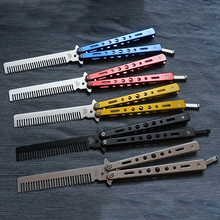 HOT No Blade Butterfly Knife Shape Design Comb Training Tool Without