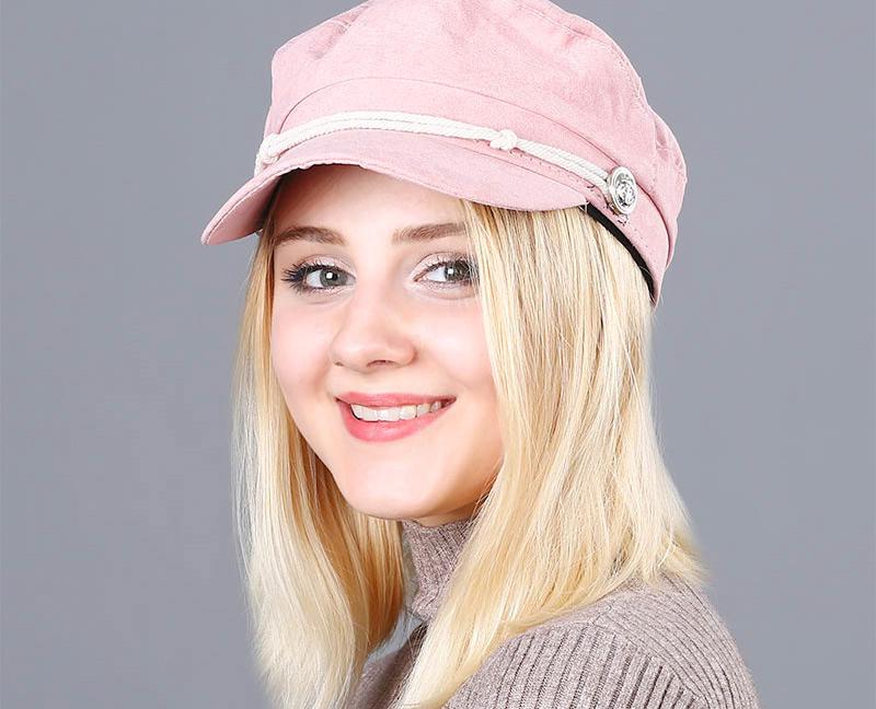 17 Autumn Octagonal Hats Flat Cap For Women Newsboy Beret Hat Female Fashion Metal Button England Style Octagonal Cap 17