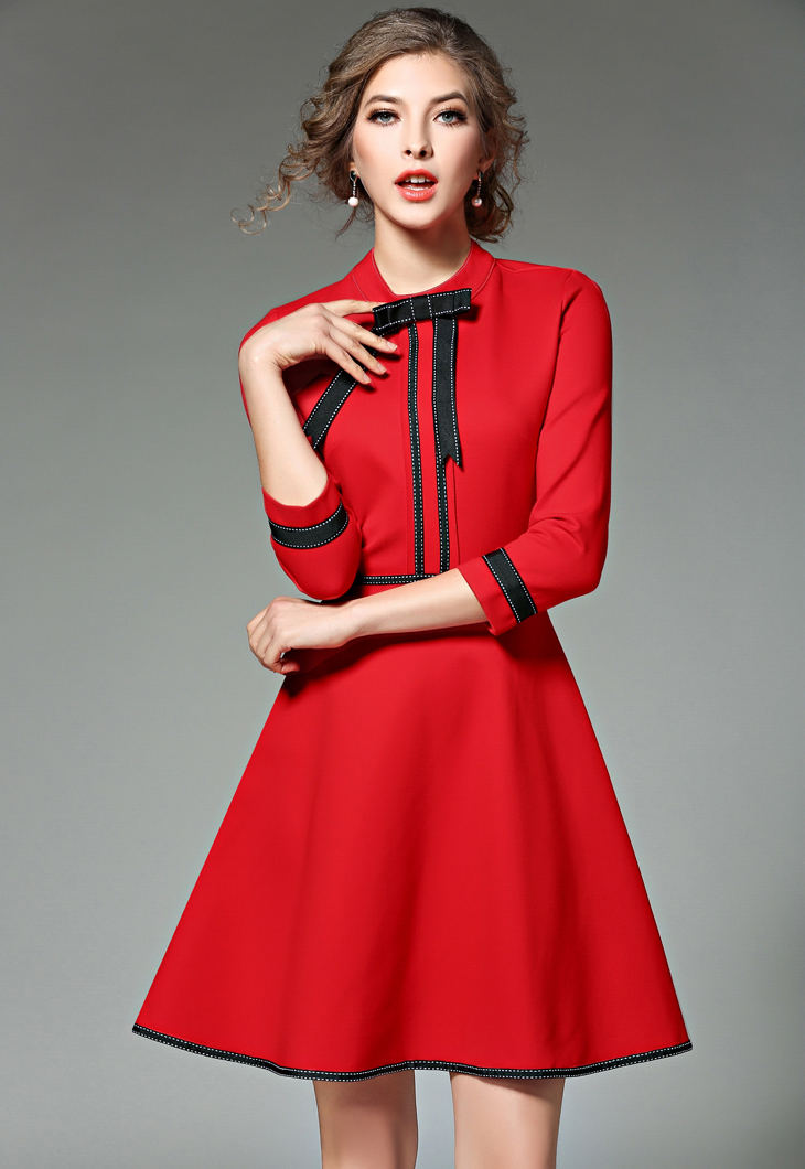 new ladies fashion red christmas dress 2018 vestidos ukraine black women party dresses winter dresses robe femme jenner 8867 in dresses from womens - Red Christmas Dress