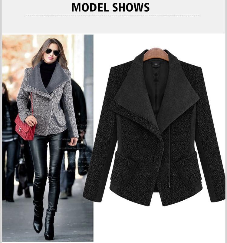 Longue Plaid 2019 gray Chaud Black À Hiver Court Mince Femmes De Manteau Laine Pardessus Femme Z30 Capuchon Outwear Mode qSqOU0