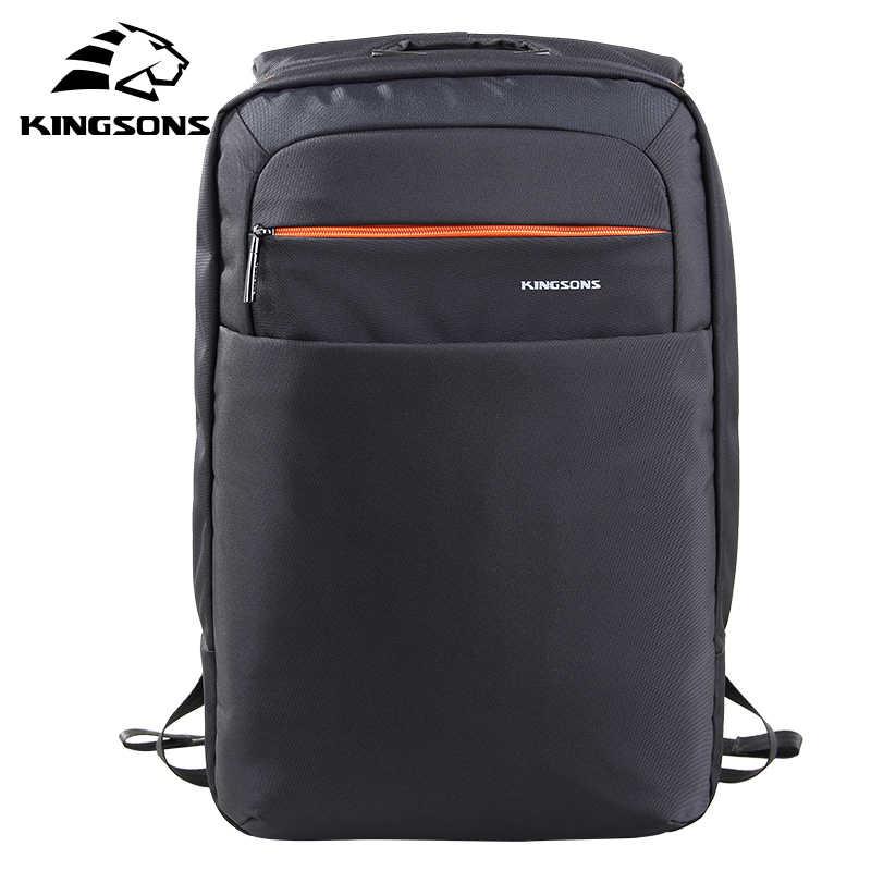 Kingsons Gaya Preppy Remaja Siswa Sekolah Ransel Unisex Kapasitas Besar Tas Komputer untuk 15.6 Inch Laptop Tas Tahan Air