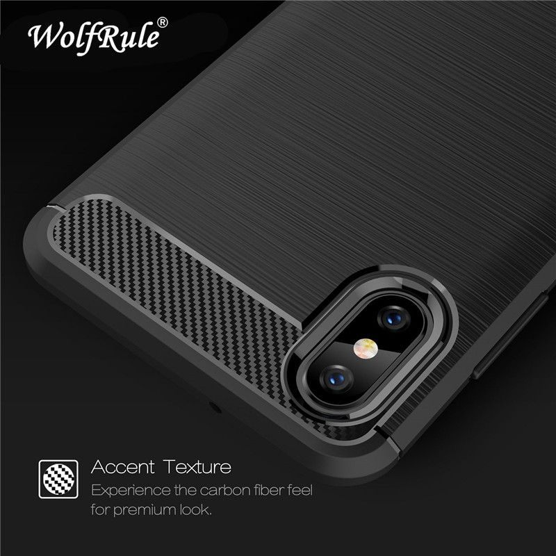 WolfRule Cases Xiaomi Mi 8 Mi 8 Explorer Cover Shockproof Soft TPU Brushed Back Case For Xiaomi Mi 8 Explorer Edition Case Shell