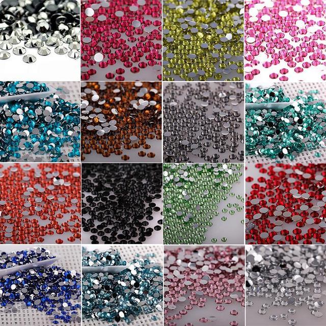 4mm 1000pcs Bag Colorized Crystal Flatback Rhinestones Glitter Gems  Creative 3D Nail Art Shoes Bag Cellphone Car DIY Decoration-in Rhinestones  from Home ... 49e4afb3c9ad