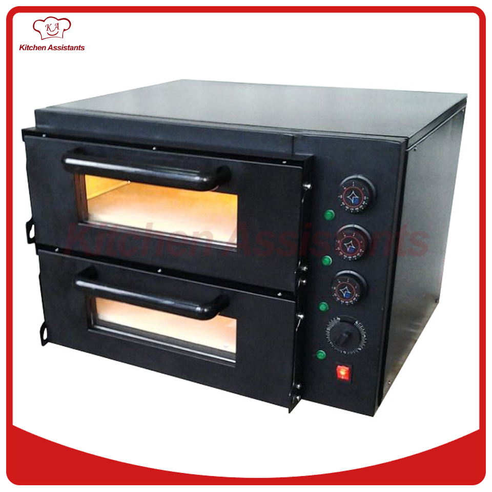 NB300 Economic 2 deck Stone Pizza Bread Baking Oven of bakery equipment economic methodology