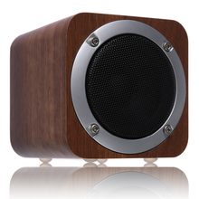Lefon Wireless Bluetooth Speaker Wooden FM Radio MP3 Player AUX Output TF SD Card Stereo Enhanced HiFi Bass 10 Hours Playtime(China)