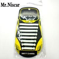 Mr Niscar 1 Set 16 Pcs White Casual Sneakers Silicone No Tie Shoelaces Kids Men Women