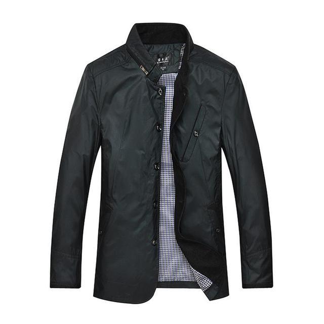 plus size 9XL 8XL 7XL 6XL 5XL Men's business casual jacket British style spring plaid lining simple wild male fashion coat