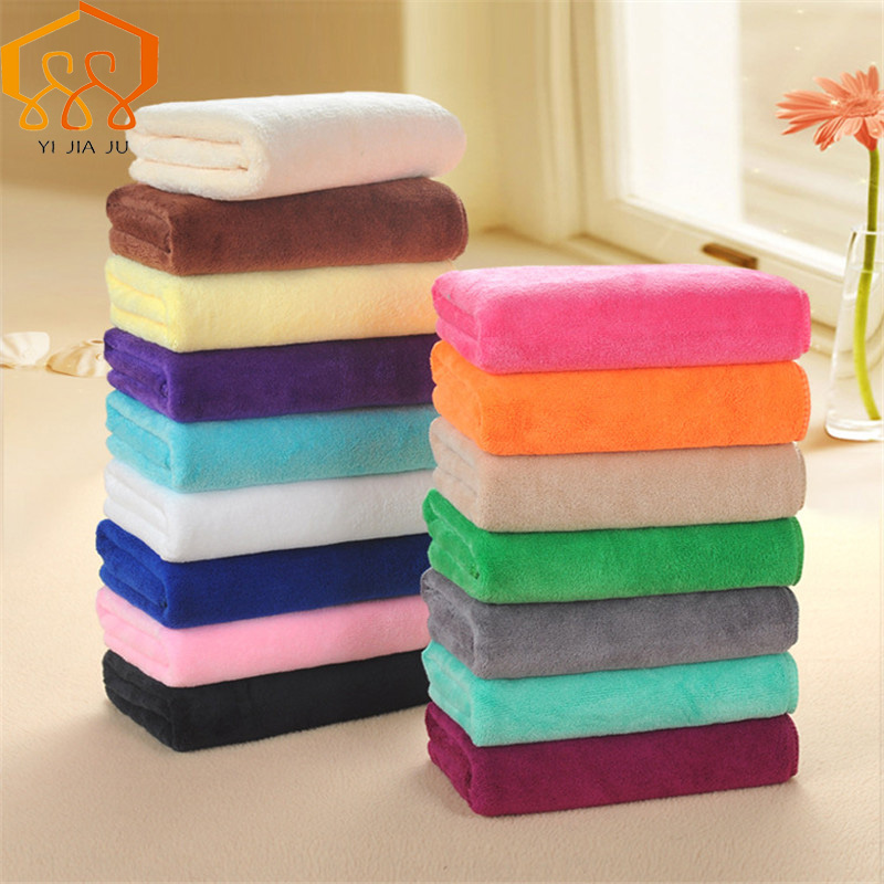 Fabric-Towel Microfiber Beauty-Salons Barber-Shop Dry-Hair Face Super-Absorbent 16-Colors