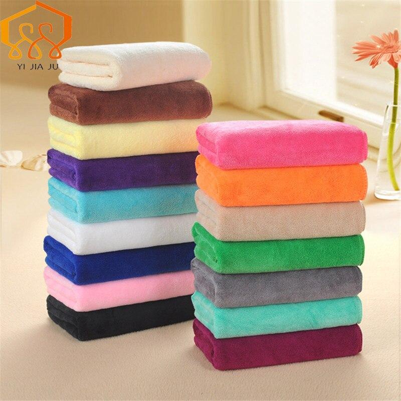 16 couleurs microfibre tissu serviette sèche cheveux Salons de beauté salon de coiffure serviette spéciale en gros Super absorbant visage essuie-mains