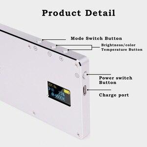 Image 5 - Iwata Pocket LED Telefoon Video Fotografie Licht Oled display Ultra Dunne Aluminium CRI96 + Dimbare 3000 k 5500 K w/Batterij & Statief