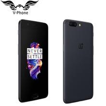Новый оригинальный 6 ГБ 64 смартфон Oneplus 5 Snapdragon 835 Octa Core LTE 4 г Dual SIM 5,5 «20.0MP 16MP отпечатков пальцев мобильный телефон