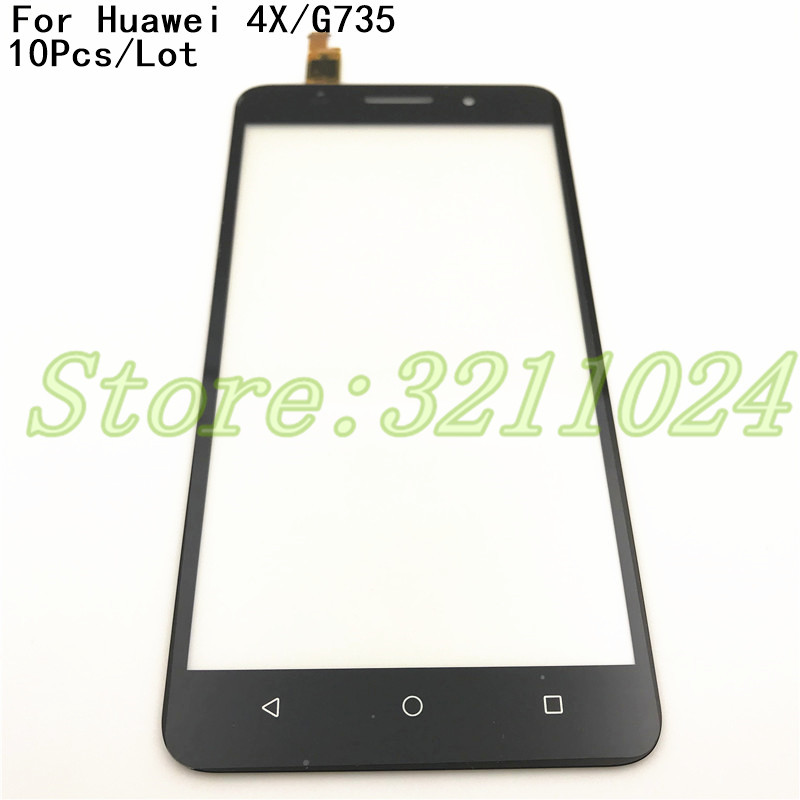 10Pcs/Lot 5.5 inches High Quality For Huawei Honor 4X / G735 Touch Screen Digitizer Sensor Outer Glass Lens Panel10Pcs/Lot 5.5 inches High Quality For Huawei Honor 4X / G735 Touch Screen Digitizer Sensor Outer Glass Lens Panel