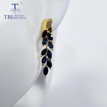 Sapphire Clasp Earrings 925 Sterling Silver 4