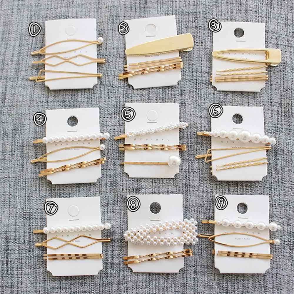 Pearl Metal Hair Clip Hairband Comb Bobby Pin Barrette Hairpin Headdress Accessories Beauty Styling Tools New Arrival