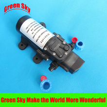 5.5l/min 80w 12v dc automatic pressure switch type with on/off button and socket micro diaphragm water pump