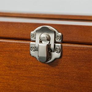 Image 5 - Caixa organizadora de madeira para relógio, caixa de madeira para organizar joias