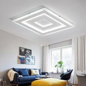 Image 4 - NEO זוהר דק משטח רכוב מודרני Led תקרת אורות lamparas דה techo מלבן אקריליק/כיכר תקרת מנורה גופי