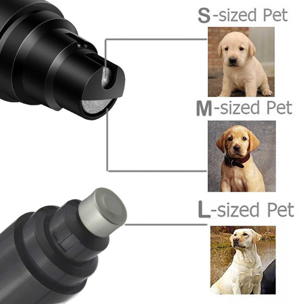 充電式犬の爪グラインダー USB 充電ペットネイルクリッパー静音電気犬猫の足爪グルーミングトリマーツール