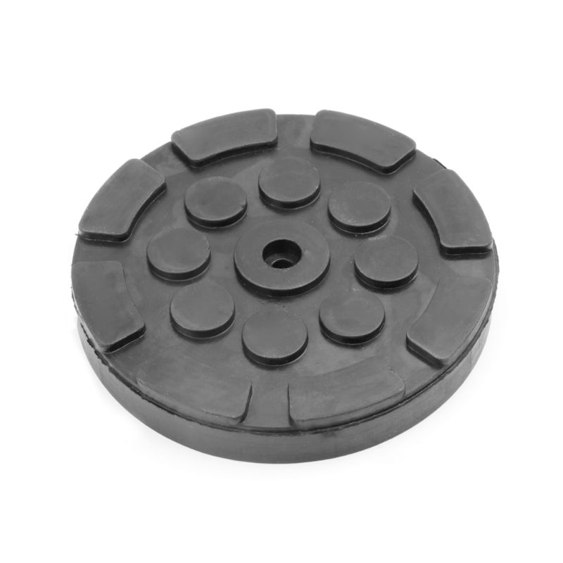 Black Round Shape Rubber Jacking Pad Anti-slip Surface Tool Rail Protector Heavy Duty For Car Lift Dropshipping