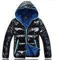 Más el tamaño XXXL capó arrugado chaquetas de invierno mujeres de los hombres a prueba de agua chaquetas de los hombres chaquetas de invierno los hombres abrigo de invierno de los hombres abajo chaquetas