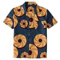 アフリカプリントボタンダウンシャツ 90 s ヴィンテージのヒップホップスタイル Dashiki エスニックプリントブラウスメンズ大ユニセックス大人の