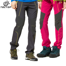 TECTOP Anti-UV Outdoor Quick Dry Waterproof Pants Men Softshell Pants Men Waterproof Windproof Softshell Hiking Pants Women