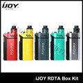 100% Оригинал IJOY RDTA BOX Kit 200 Вт с 12.8 мл Большой электронной сок бак и RDTA МОД ОКНО электронные Сигареты Kit 1 Шт./лот