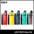 100% original ijoy rdta caja kit 200 w con caja de 12.8 ml e-jugo de tanque grande y rdta mod kit de cigarrillo electrónico 1 unids/lote