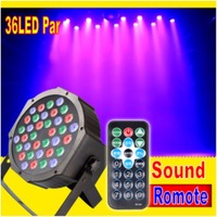 Remote Control 36W 36 LED Stage Light RGB Par Light DMX512 Master Slave LED Flat DJ