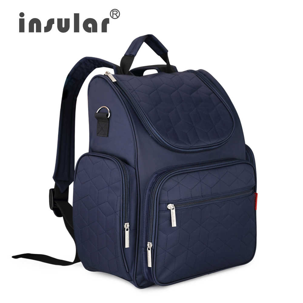 d1291fa6adaf41 ... Insular Elegant Baby Diaper Backpacks Nappy Bags Multifunctional  Changing Bags For Mommy Shipping Free ...