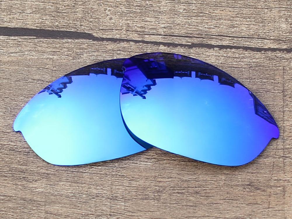 5f3d711f8382b REPUESTO polarizadas del espejo del azul de hielo Objetivos para la media  chaqueta Gafas de sol Marcos protección 100% UVA y UVB