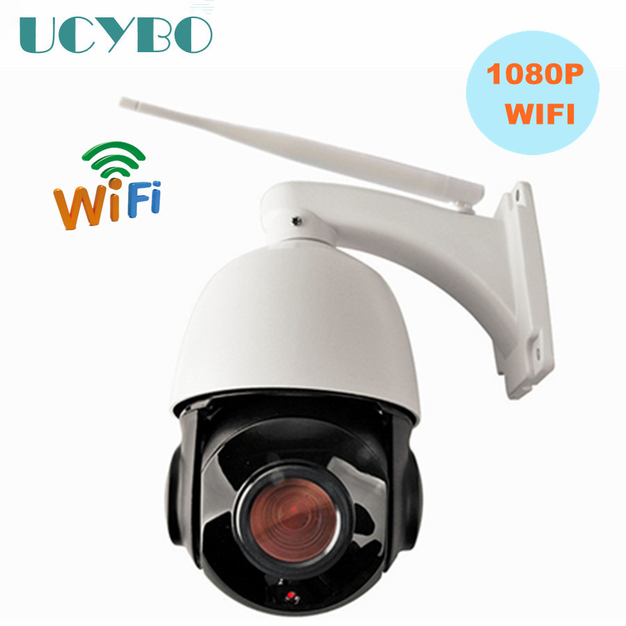 2.0MP wireless 1080P HD IP camera MINI  PTZ Speed dome camera WIFI pan tilt zoom outdoor network IP Onvif cctv security camera hd 1 3mp ip ptz high speed dome outdoor camera mini 6 18x pan tilt zoom onvif network megapixel 720p 960p security cctv p2p