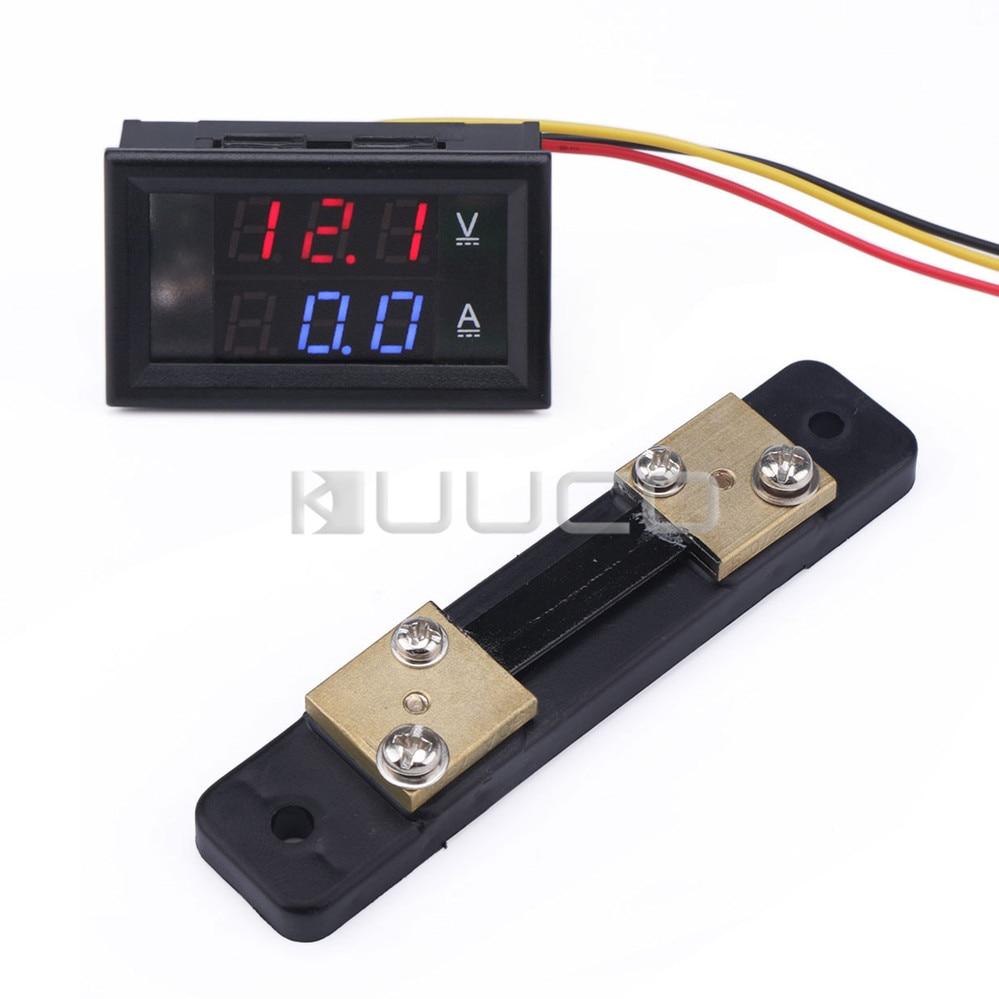 Resistive Shunt Measurement & Analysis Instruments Tools Nice Dc 12v 24v Current /voltage Meter Dc 4.5~30v/50a Dual Display Voltmeter Ammeter 2in1 Digital Meter