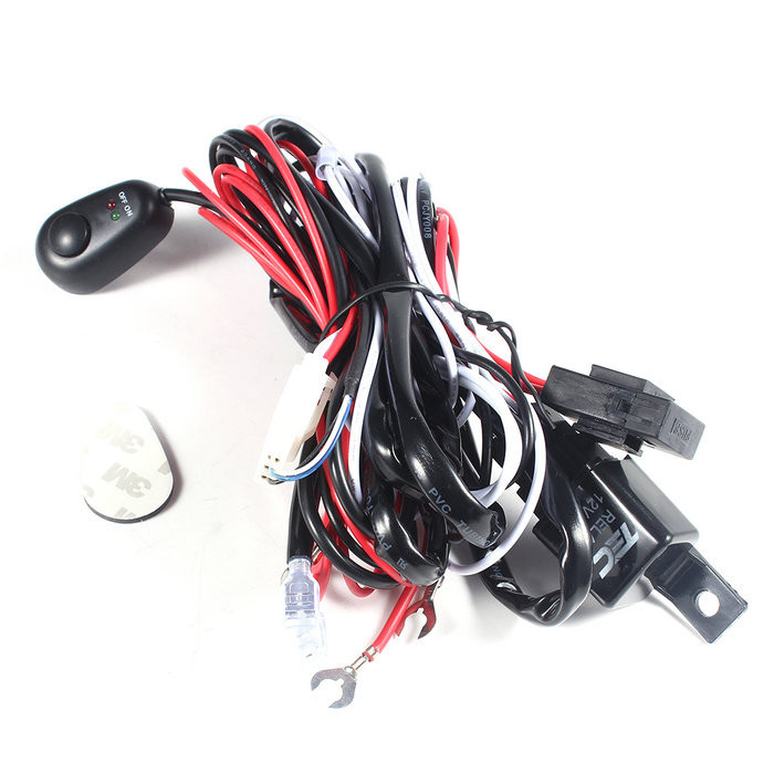 popular universal motorcycle wiring harness buy cheap universal universal car fog light wiring loom harness kit led headlight fuse wire harness