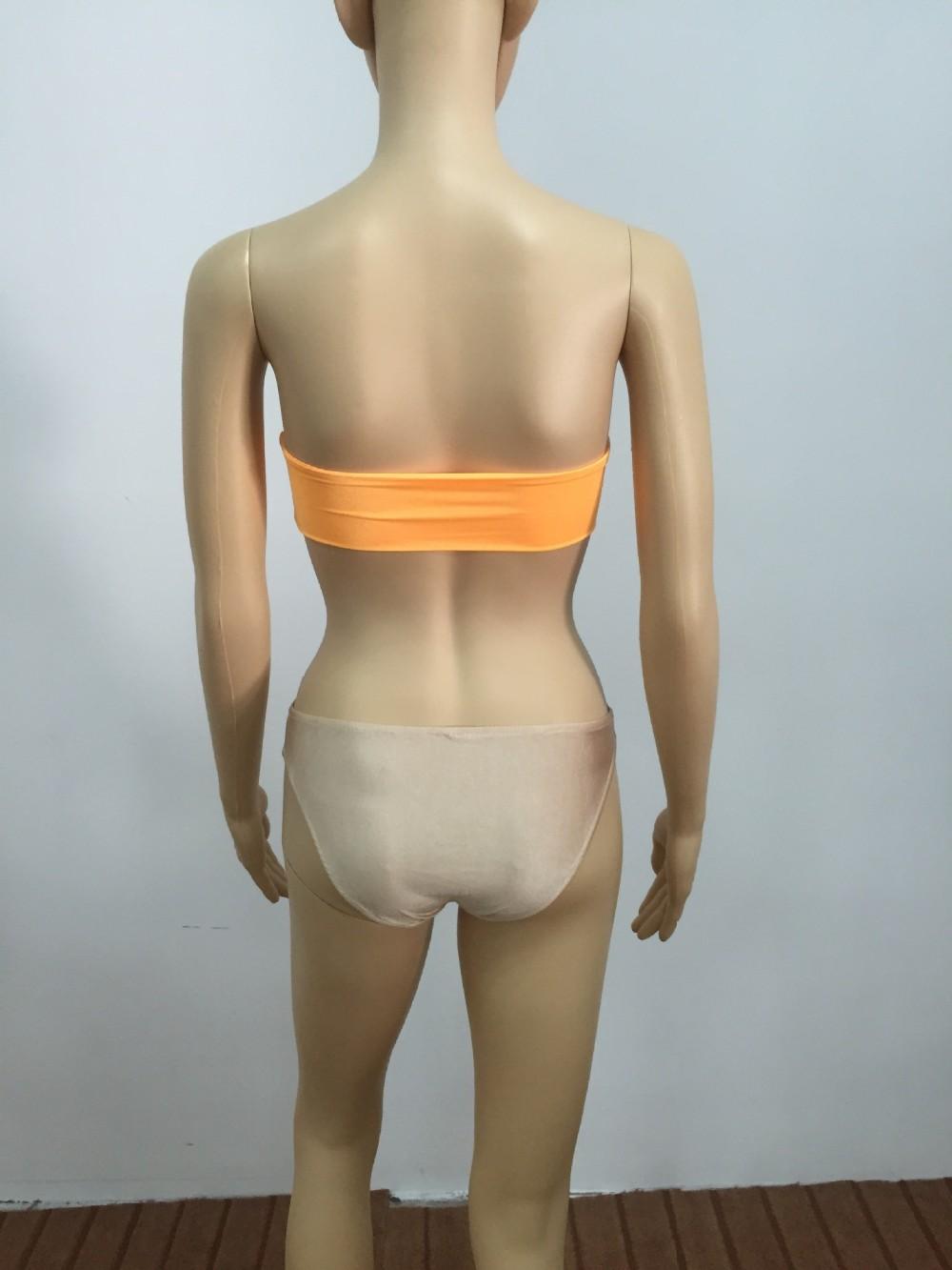 Women Sexy Diamond Rhinestone Solid Bikinis Set Women Swimwear Swimsuit Bathing Beachwear 17 6