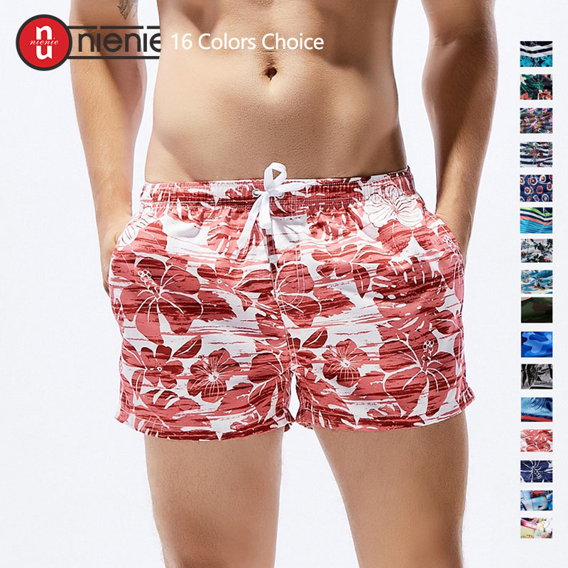 New Men's Board Shorts Print Quick Drying Shorts Beach Summer Beach Short Pants Fashion 16 Color Choice