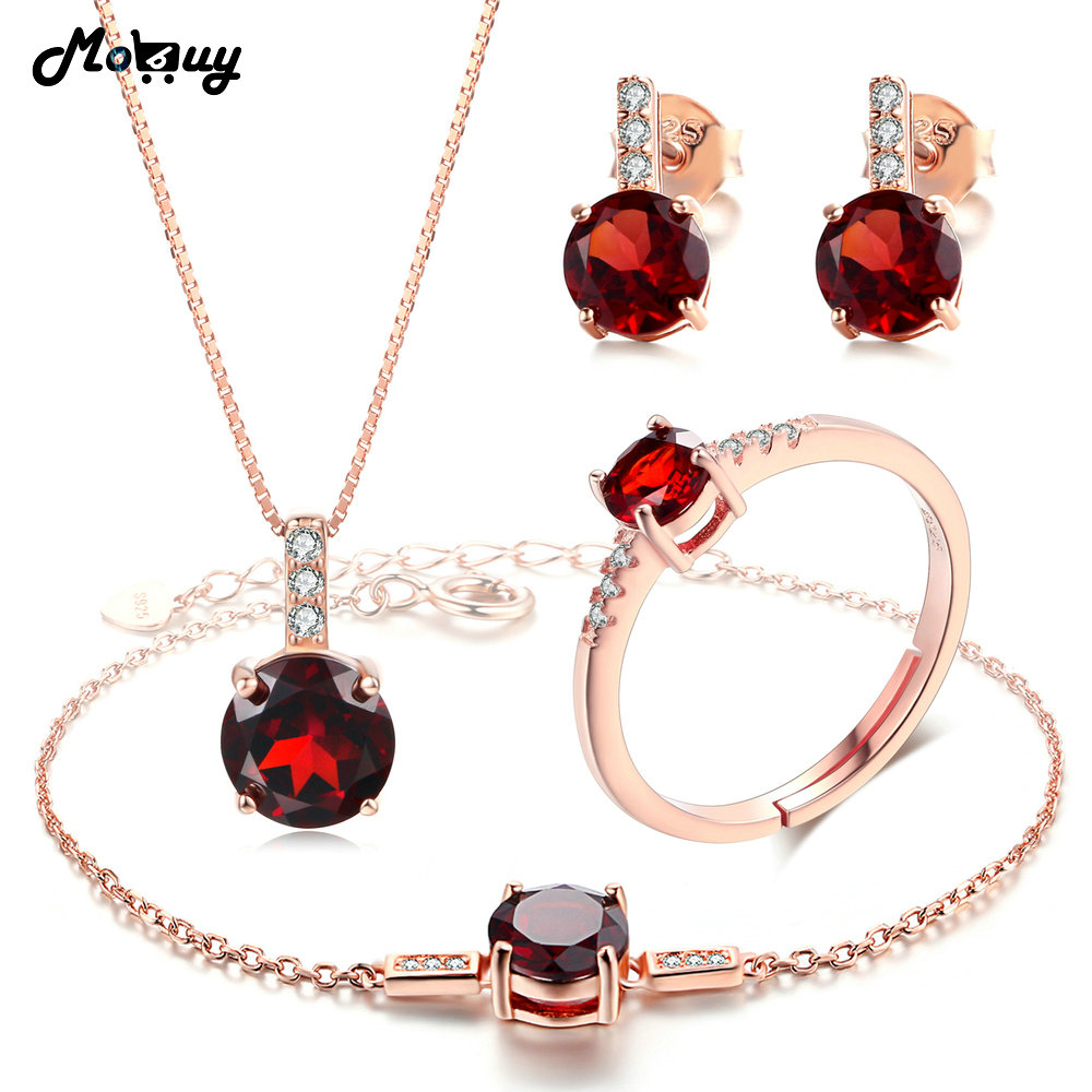 MoBuy Natural Gemstone 4pcs Jewelry Sets 100%