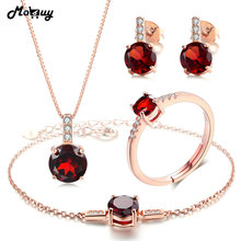 hot deal buy mobuy natural gemstone 4pcs jewelry sets 100% 925 sterling silver for women party classic fine jewelry v014ehnr