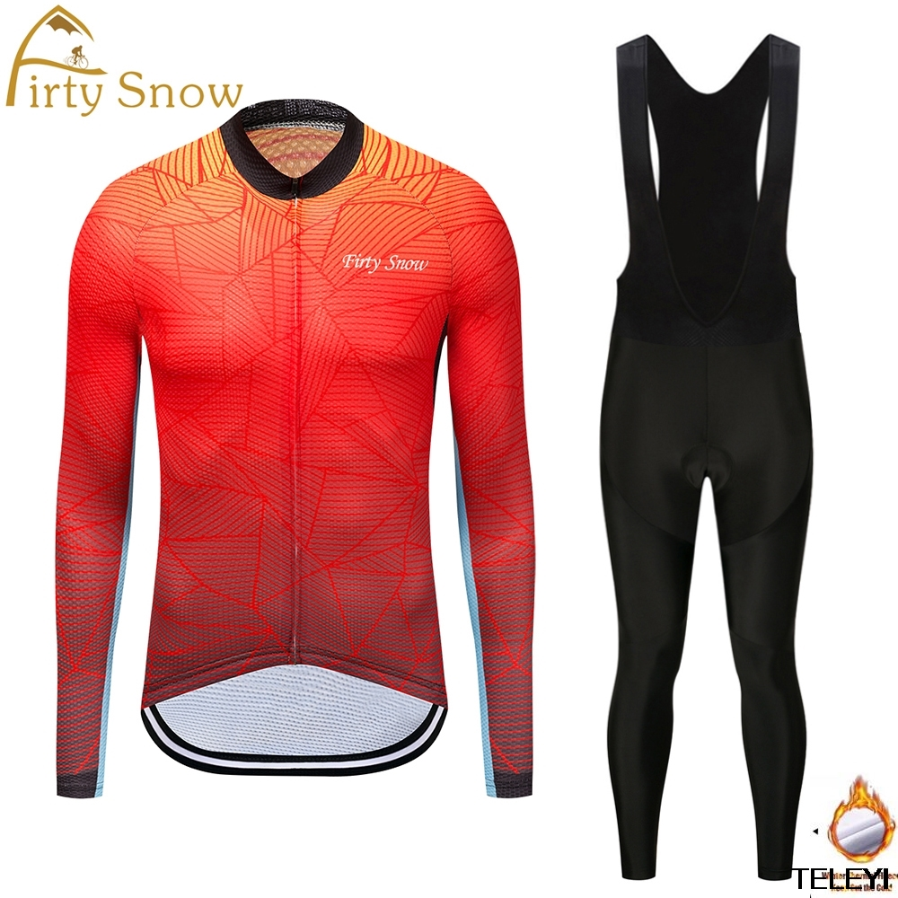 2018 Pro Winter Thermal Fleece firty snow Cycling Jersey Ropa Ciclismo Mtb Long Sleeve Men Bike Wear Clothing Maillot 2016 fluor pro team sky cycling long jersey winter thermal fleece long bike clothing mtb ropa ciclismo bicycling maillot culotte