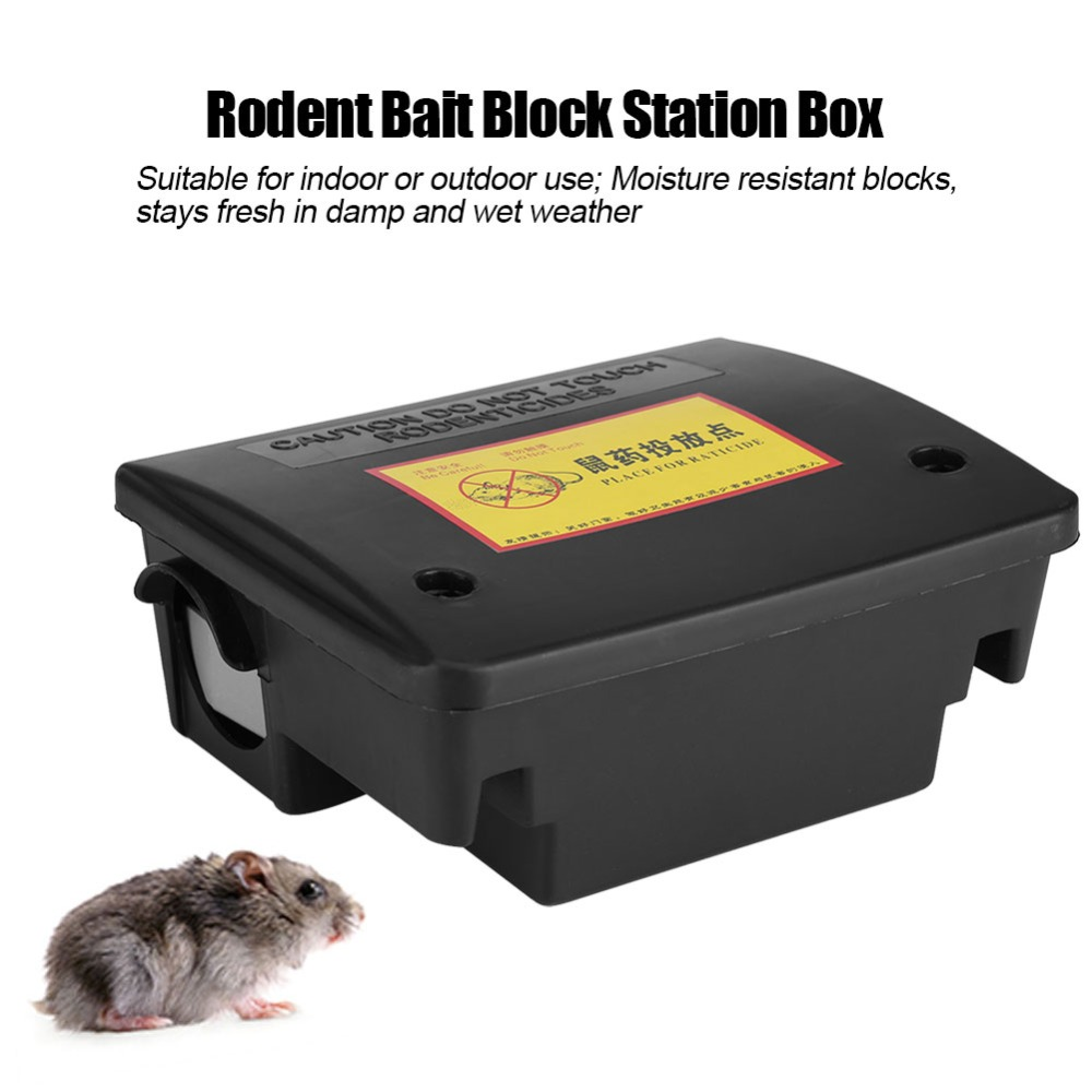 Rodent Bait Block Station Box Case Trap Rat Mouse Mice