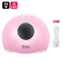 Я девушка ногтей Сушилка для ногтей Светодиодный УФ-лампы 36 W мини-лампа с USB для маникюра сушки всех Гель-лак для ногтей Инструменты