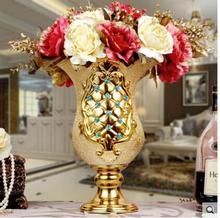 European ceramic large vase luxury floral decoration