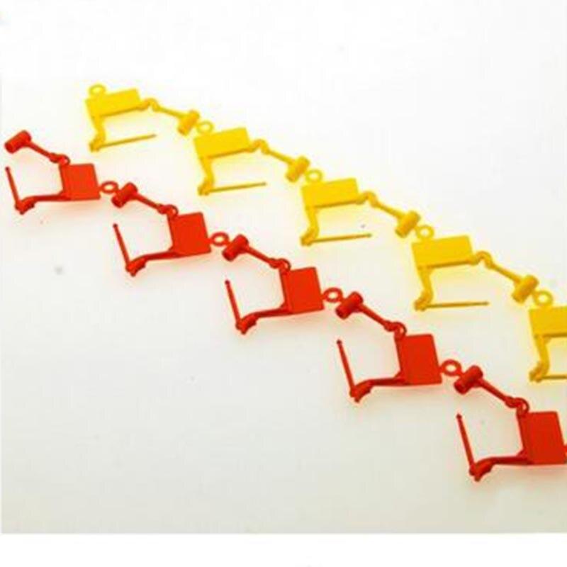 100pcs 30*40mm Disposable plastic padlock seal label 30*40mm for hospital tag logistics clothes